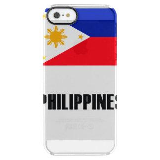 Philippinen kennzeichnen einfache Dunkelheit Durchsichtige iPhone SE/5/5s Hülle
