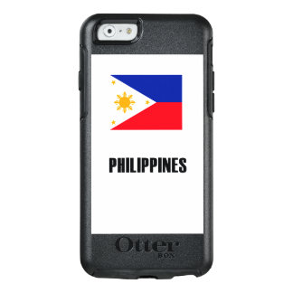 Philippinen kennzeichnen einfache Dunkelheit OtterBox iPhone 6/6s Hülle