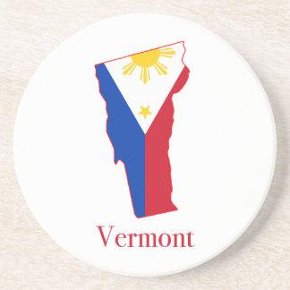 Philippinen kennzeichnen über Vermont-Staatskarte Getränkeuntersetzer