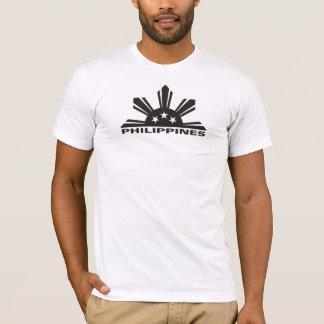 Philippinen mit der Karte Rückseite an T-Shirt