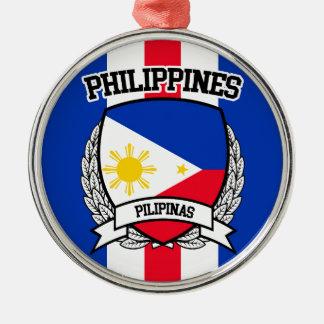Philippinen Rundes Silberfarbenes Ornament
