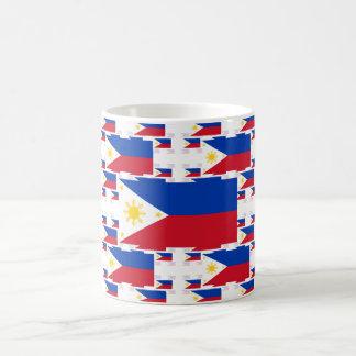 Philippinische Flagge in mehrfachen bunten Tasse