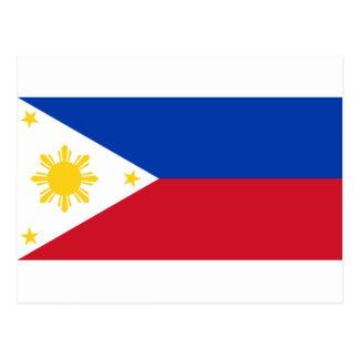 Philippinische Flagge Postkarte