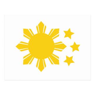 Philippinische Flagge - stolz, Pinoy zu sein! Postkarte