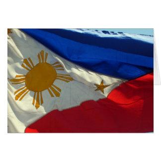 philippinische Flaggenwelle Karte