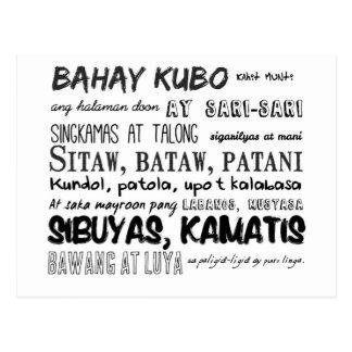 Philippinische Kinderzimmer-Reim-Reihe Postkarte