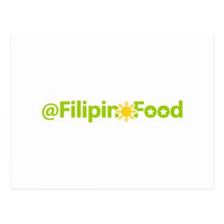 Philippinische Nahrung Postkarte