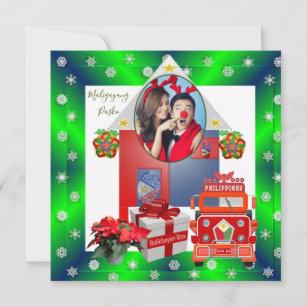 Frohe Weihnachten Philippinisch.Philippinische Karten Zazzle De