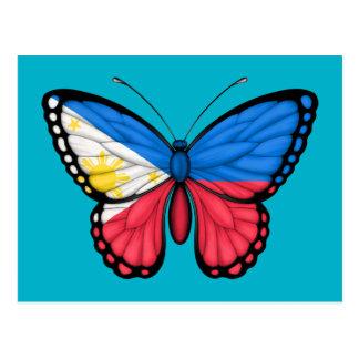Philippinische Schmetterlings-Flagge Postkarte
