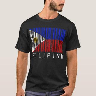 Philippinischer Flaggen-Barcode T-Shirt