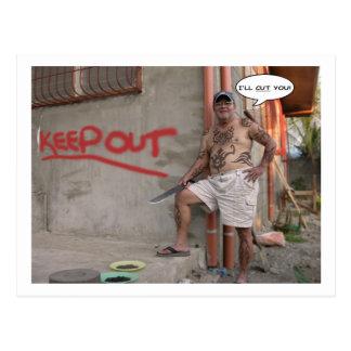 Philippinischer Hausbesetzer - Postkarte