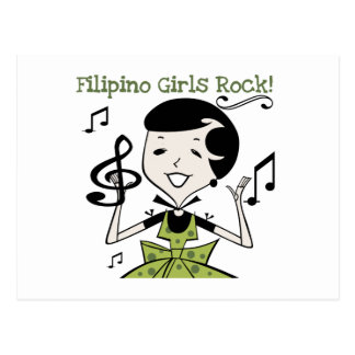 Philippinischer Mädchen-Felsen Postkarte