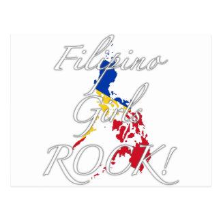 Philippinischer Mädchen-Felsen! Postkarte