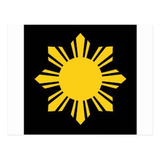 Philippinischer Sun Postkarte