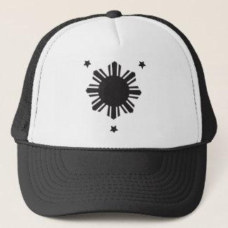 Philippinischer Sun und Stern zentriert - Truckerkappe