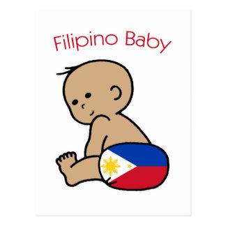Philippinisches Baby Postkarte