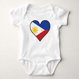 Philippinisches Flaggen-Herz Baby Strampler