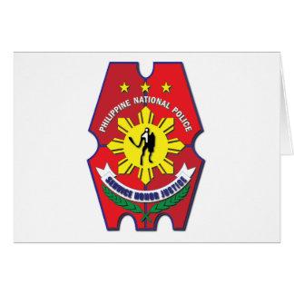 Philippinisches nationale Polizei-Siegel ohne Text Karte