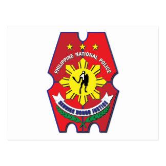 Philippinisches nationale Polizei-Siegel ohne Text Postkarte