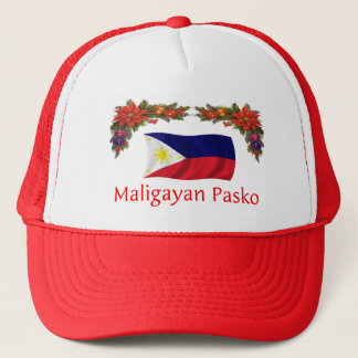 Philippinisches Weihnachten Truckerkappe
