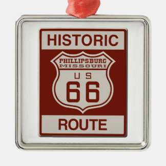 Philipsburg Weg 66 Silbernes Ornament