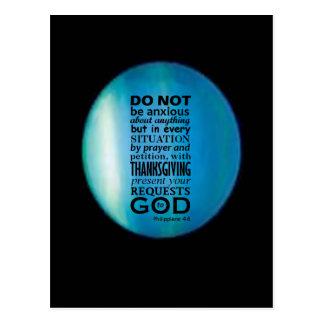 Phillipians 4:6 postkarte