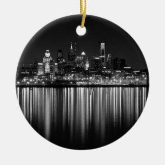 Philly Nacht b/w Keramik Ornament