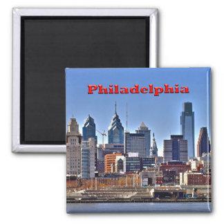 Philly Skyline HDR-Magnet Quadratischer Magnet