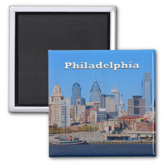 Philly Skyline-Magnet Quadratischer Magnet