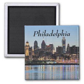 Philly Sonnenuntergang Quadratischer Magnet