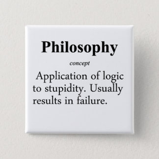 Philosophie-Definition Quadratischer Button 5,1 Cm