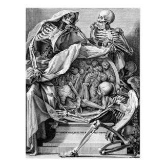 Philosophie der Sterblichkeits-Postkarte