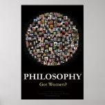 Philosophie - erhaltene Frauen? Plakatdruck