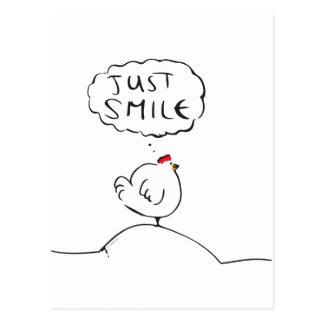 Philosophie-Huhn - gerade Lächeln Postkarte
