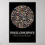 Philosophie - wo sind die Frauen? Plakatdruck