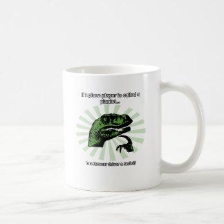 Philosoraptor Rennwagen-Antriebs-Witz Kaffeetasse