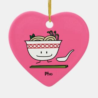 Pho Nudel-Schüssel-Vietnam-Suppenlöffelessstäbchen Keramik Ornament