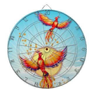 Phoenix-Feuer-Vogel-Steigen Dartscheibe