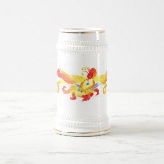 Phoenix-Herz Stein Bierglas