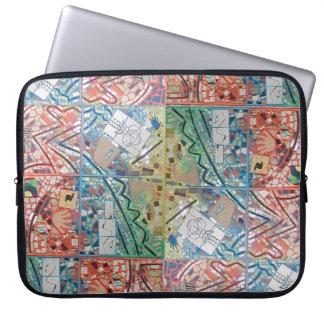Phoenix-Kunst-Patchwork-Mosaik-Laptop-Hülse/Kasten Laptopschutzhülle