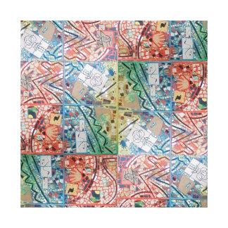 Phoenix-Kunst-Patchwork-Mosaik Leinwanddruck
