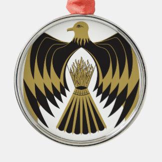 Phoenix Silbernes Ornament