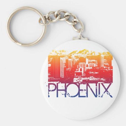 Phoenix-Skyline-Entwurf Schlüsselanhänger