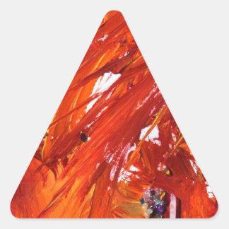Phoenix-Steigen Dreieckiger Aufkleber