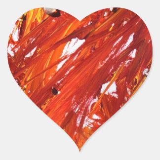 Phoenix-Steigen Herz-Aufkleber