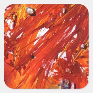 Phoenix-Steigen Quadratischer Aufkleber