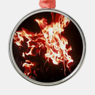 Phoenixsteigen Silbernes Ornament