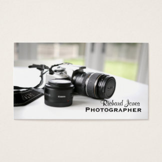 Photagraphy Fotograf-Kameraobjektiv Visitenkarte