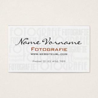 Photography Visitenkarte