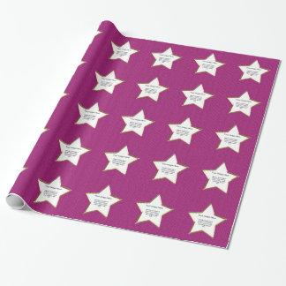 PhotoTemplate - pinkfarbener Strick Stockinette Geschenkpapier